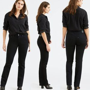 Levis 505 Straight Leg Faded Black Jeans Size 12